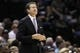 Apr 11, 2014; San Antonio, TX, USA; Phoenix Suns head coach Jeff Hornacek watches from the sideline during the first half against the Phoenix Suns  at AT&T Center. Mandatory Credit: Soobum Im-USA TODAY Sports