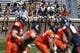Apr 12, 2014; Charlottesville, VA, USA; Students watch from the stands during the Virginia Cavaliers Spring Game at Scott Stadium. Mandatory Credit: Geoff Burke-USA TODAY Sports
