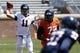 Apr 12, 2014; Charlottesville, VA, USA; Virginia Cavaliers quarterback Greyson Lambert (11) throws the ball during the Cavaliers Spring Game at Scott Stadium. Mandatory Credit: Geoff Burke-USA TODAY Sports