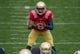 Apr 12, 2014; Notre Dame, IN, USA; Notre Dame Fighting Irish quarterback Malik Zaire (8) prepares for the snap in the first quarter of the Blue-Gold Game at Notre Dame Stadium. Mandatory Credit: Matt Cashore-USA TODAY Sports