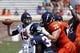 Apr 12, 2014; Charlottesville, VA, USA; Virginia Cavaliers quarterback Matt Johns (15) throws the ball during the Cavaliers Spring Game at Scott Stadium. Mandatory Credit: Geoff Burke-USA TODAY Sports