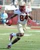 Apr 12, 2014; Tallahassee, FL, USA; Florida State Seminoles wide receiver Isaiah Jones (84) runs the ball during the spring game at Doak Campbell Stadium. Mandatory Credit: Melina Vastola-USA TODAY Sports