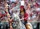 Apr 12, 2014; Tallahassee, FL, USA; Florida State Seminoles mascot Chief Osceola before the start of the spring game at Doak Campbell Stadium. Mandatory Credit: Melina Vastola-USA TODAY Sports