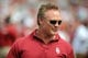 Apr 12, 2014; Norman, OK, USA; Oklahoma Sooner and NFL former linebacker Brian Bosworth looks on during the spring game at Gaylord Family Oklahoma Memorial Stadium. Mandatory Credit: Mark D. Smith-USA TODAY Sports