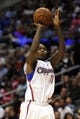 Apr 12, 2014; Los Angeles, CA, USA; Los Angeles Clippers guard Jamal Crawford (11) attempts a shot against the Sacramento Kings during the fourth quarter at Staples Center. The Los Angeles Clippers won 117-101. Mandatory Credit: Kelvin Kuo-USA TODAY Sports