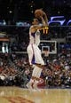 Apr 12, 2014; Los Angeles, CA, USA; Los Angeles Clippers forward Matt Barnes (22) attempts a shot against the Sacramento Kings during the third quarter at Staples Center. The Los Angeles Clippers won 117-101. Mandatory Credit: Kelvin Kuo-USA TODAY Sports