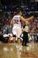 Apr 12, 2014; Los Angeles, CA, USA; Los Angeles Clippers forward Blake Griffin (32) celebrates after making a shot against the Sacramento Kings during the third quarter at Staples Center. The Los Angeles Clippers won 117-101. Mandatory Credit: Kelvin Kuo-USA TODAY Sports