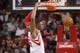 Apr 12, 2014; Houston, TX, USA; Houston Rockets forward Terrence Jones (6) dunks the ball during the first half against the New Orleans Pelicans at Toyota Center. Mandatory Credit: Soobum Im-USA TODAY Sports