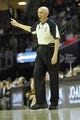 Apr 12, 2014; Cleveland, OH, USA; NBA referee Dick Bavetta (27) reacts in the first quarter of a game between the Cleveland Cavaliers and the Boston Celtics at Quicken Loans Arena. Mandatory Credit: David Richard-USA TODAY Sports