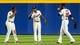 Apr 12, 2014; Atlanta, GA, USA; Atlanta Braves left fielder Justin Upton (8) and center fielder B.J. Upton (2) and right fielder Jason Heyward (22) celebrate beating the Washington Nationals at Turner Field. The Braves won 6-3. Mandatory Credit: Daniel Shirey-USA TODAY Sports