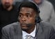 Apr 8, 2014; Los Angeles, CA, USA; TNT broadcaster Chris Webber during the NBA game between the Houston Rockets and the Los Angeles Lakers at Staples Center. Mandatory Credit: Kirby Lee-USA TODAY Sports
