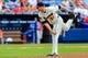 Apr 13, 2014; Atlanta, GA, USA; Atlanta Braves starting pitcher Gus Schlosser (50) pitches in the ninth inning against the Washington Nationals at Turner Field. The Braves won 10-2. Mandatory Credit: Daniel Shirey-USA TODAY Sports