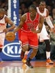Apr 13, 2014; New York, NY, USA;  Chicago Bulls guard Tony Snell (20) brings the ball up court during the first half against the New York Knicks at Madison Square Garden. Mandatory Credit: Jim O'Connor-USA TODAY Sports