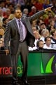Apr 13, 2014; Portland, OR, USA; Golden State Warriors head coach Mark Jackson gestures during the second quarter against the Portland Trail Blazers at the Moda Center. Mandatory Credit: Craig Mitchelldyer-USA TODAY Sports