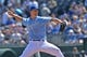 Apr 9, 2014; Kansas City, MO, USA; Kansas City Royals pitcher Jeremy Guthrie (11) delivers a pitch against the Tampa Bay Rays during the first inning at Kauffman Stadium. Mandatory Credit: Peter G. Aiken-USA TODAY Sports