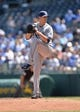 Apr 9, 2014; Kansas City, MO, USA; Tampa Rays pitcher Jake Odorizzi (23) delivers a pitch against the Kansas City Royals during the first inning at Kauffman Stadium. Mandatory Credit: Peter G. Aiken-USA TODAY Sports