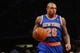 Apr 15, 2014; Brooklyn, NY, USA;  New York Knicks guard Shannon Brown (26) advances the ball during the first quarter against the Brooklyn Nets at Barclays Center. Mandatory Credit: Anthony Gruppuso-USA TODAY Sports