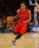 Apr 16, 2014; New York, NY, USA;  Toronto Raptors guard DeMar DeRozan (10) drives to the basket during the first half against the New York Knicks at Madison Square Garden. Mandatory Credit: Jim O'Connor-USA TODAY Sports