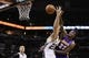 Apr 16, 2014; San Antonio, TX, USA; San Antonio Spurs forward Tiago Splitter (22) battles for a rebound with Los Angeles Lakers forward Jordan Hill (27) during the first half at AT&T Center. Mandatory Credit: Soobum Im-USA TODAY Sports