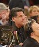 Apr 16, 2014; New York, NY, USA;  Steve Schirripa from the Sopranos show court side during game between the New York Knicks and the Toronto Raptors at Madison Square Garden. Mandatory Credit: Jim O'Connor-USA TODAY Sports