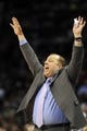 Apr 16, 2014; Charlotte, NC, USA; Chicago Bulls head coach Tom Thibodeau during the second half of the game against the Charlotte Bobcats at Time Warner Cable Arena. Bobcats win in overtime 91-86. Mandatory Credit: Sam Sharpe-USA TODAY Sports