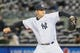 Apr 16, 2014; Bronx, NY, USA;  New York Yankees relief pitcher Adam Warren (43) delivers a pitch during the ninth inning against the Chicago Cubs at Yankee Stadium. New York Yankees won 2-0. Mandatory Credit: Anthony Gruppuso-USA TODAY Sports