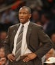 Apr 16, 2014; New York, NY, USA;  Toronto Raptors head coach Dwane Casey during the second half against the New York Knicks at Madison Square Garden. New York Knicks defeat the Toronto Raptors 95-92. Mandatory Credit: Jim O'Connor-USA TODAY Sports