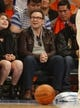 Apr 16, 2014; New York, NY, USA; Christian Slater sits court side during game between the New York Knicks and the Toronto Raptors at Madison Square Garden. New York Knicks defeat the Toronto Raptors 95-92. Mandatory Credit: Jim O'Connor-USA TODAY Sports