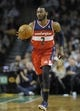 Apr 16, 2014; Boston, MA, USA; Washington Wizards guard John Wall (2) dribbles the ball during the first half against the Boston Celtics at TD Garden. Mandatory Credit: Bob DeChiara-USA TODAY Sports