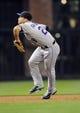 Apr 16, 2014; San Diego, CA, USA; Colorado Rockies third baseman Nolan Arenado (28) fields a ground ball against the San Diego Padres at Petco Park. Mandatory Credit: Christopher Hanewinckel-USA TODAY Sports