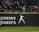 Apr 17, 2014; Chicago, IL, USA; Chicago White Sox left fielder Adam Eaton (1) makes a catch on Boston Red Sox designated hitter David Ortiz (not pictured) during the first inning at U.S Cellular Field. Mandatory Credit: David Banks-USA TODAY Sports