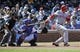 Apr 18, 2014; Chicago, IL, USA; Cincinnati Reds center fielder Billy Hamilton (6) hits an RBI double against the Chicago Cubs during the fifth inning at Wrigley Field. Mandatory Credit: David Banks-USA TODAY Sports
