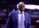 Apr 14, 2014; Chicago, IL, USA; Orlando Magic head coach Jacque Vaughn during the second half at the United Center. Mandatory Credit: Mike DiNovo-USA TODAY Sports