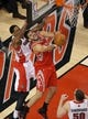 Apr 2, 2014; Toronto, Ontario, CAN; Toronto Raptors guard DeMar DeRozan (10) fouls Houston Rockets forward Omri Casspi (18) at Air Canada Centre. The Raptors beat the Rockets 107-103. Mandatory Credit: Tom Szczerbowski-USA TODAY Sports