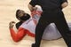 Apr 2, 2014; Toronto, Ontario, CAN; Houston Rockets guard James Harden (13) stretches with the help of a trainer before the start of their game against the Toronto Raptors at Air Canada Centre. The Raptors beat the Rockets 107-103. Mandatory Credit: Tom Szczerbowski-USA TODAY Sports