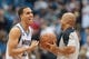 Apr 16, 2014; Minneapolis, MN, USA; Minnesota Timberwolves shooting guard Kevin Martin (23) laughs with referee Marc Davis before the game against the Utah Jazz at Target Center. Mandatory Credit: Brad Rempel-USA TODAY Sports