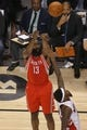 Apr 2, 2014; Toronto, Ontario, CAN; Houston Rockets guard James Harden (13) shoots against the Toronto Raptors at Air Canada Centre. The Raptors beat the Rockets 107-103. Mandatory Credit: Tom Szczerbowski-USA TODAY Sports