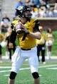 Apr 19, 2014; Columbia, MO, USA; Missouri Tigers quarterback Maty Mauk (7) prepares to pass the ball during the Black & Gold Game at Faurot Field. Mandatory Credit: Dak Dillon-USA TODAY Sports