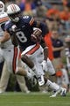 Apr 19, 2014; Auburn, AL, USA; Auburn Tigers receiver Tony Stevens (8) carries during the second half of the A-Day spring game at Jordan Hare Stadium. Mandatory Credit: John Reed-USA TODAY Sports