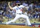 April 19, 2014; Los Angeles, CA, USA; Los Angeles Dodgers relief pitcher Brian Wilson (00) pitches the eighth inning against the Arizona Diamondbacks at Dodger Stadium. Mandatory Credit: Gary Vasquez-USA TODAY Sports