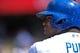 Apr 20, 2014; Los Angeles, CA, USA: Los Angeles Dodgers right fielder Yasiel Puig (66) looks on during the Dodgers 4-1 win over the Arizona Diamondbacks at Dodger Stadium. Mandatory Credit: Robert Hanashiro-USA TODAY Sports