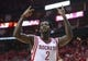 Apr 20, 2014; Houston, TX, USA; Houston Rockets guard Patrick Beverley (2) reacts after a play during the third quarter against the Portland Trail Blazers in game one during the first round of the 2014 NBA Playoffs at Toyota Center. Mandatory Credit: Troy Taormina-USA TODAY Sports