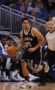 Apr 9, 2014; Orlando, FL, USA; Brooklyn Nets guard Jorge Gutierrez (13) drives to the basket against the Orlando Magic during the first quarter at Amway Center. Mandatory Credit: Kim Klement-USA TODAY Sports