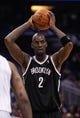 Apr 9, 2014; Orlando, FL, USA; Brooklyn Nets center Kevin Garnett (2) against the Orlando Magic during the second quarter at Amway Center. Mandatory Credit: Kim Klement-USA TODAY Sports