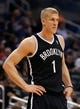 Apr 9, 2014; Orlando, FL, USA; Brooklyn Nets forward Mason Plumlee (1) against the Orlando Magic during the first quarter at Amway Center. Mandatory Credit: Kim Klement-USA TODAY Sports