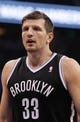 Apr 9, 2014; Orlando, FL, USA; Brooklyn Nets forward Mirza Teletovic (33) against the Orlando Magic during the first quarter at Amway Center. Mandatory Credit: Kim Klement-USA TODAY Sports
