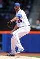Apr 27, 2014; New York, NY, USA; New York Mets starting pitcher Dillon Gee (35) pitches against the Miami Marlins during the second inning of a game at Citi Field. Mandatory Credit: Brad Penner-USA TODAY Sports