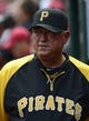 Apr 27, 2014; St. Louis, MO, USA; Pittsburgh Pirates manager Clint Hurdle (13) walks through the dugout during the first inning against the St. Louis Cardinals at Busch Stadium. Mandatory Credit: Jeff Curry-USA TODAY Sports