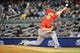 Apr 27, 2014; Bronx, NY, USA;  Los Angeles Angels relief pitcher Nick Maronde (63) pitches during the eighth inning against the New York Yankees at Yankee Stadium. New York Yankees won 3-2.  Mandatory Credit: Anthony Gruppuso-USA TODAY Sports