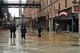 Apr 29, 2014; Baltimore, MD, USA; Baseball fans and Orioles employees depart the Oriole Park at Camden Yards after the game between the Pittsburgh Pirates and Baltimore Orioles  had been postponed due to rain. Mandatory Credit: Tommy Gilligan-USA TODAY Sports